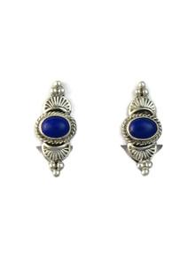 Silver Lapis Clip On Earrings (ER5218)