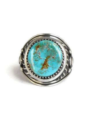 Kingman Turquoise Ring Size 12 by Derrick Gordon (RG4304)