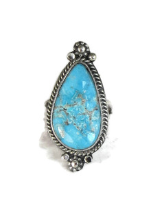Kingman Turquoise Ring Size 6 1/2 by Lucy Jake (RG4311)
