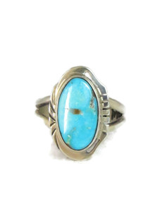 Turquoise Mountain Ring Size 8 by Herbert Pino (RG4315)