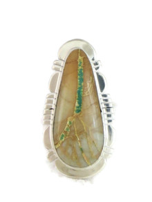 Royston Boulder Turquoise Ring Size 6 by Phillip Sanchez (RG4317)