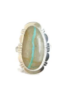 Royston Boulder Turquoise Ring Size 8 by Phillip Sanchez (RG4318)