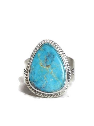 Kingman Turquoise Ring Size 10 by Lyle Piaso (RG4322)