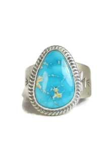 Kingman Turquoise Ring Size 10 by Lyle Piaso (RG4323)