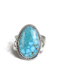 Kingman Turquoise Ring Size 12 by Lyle Piaso (RG4326)