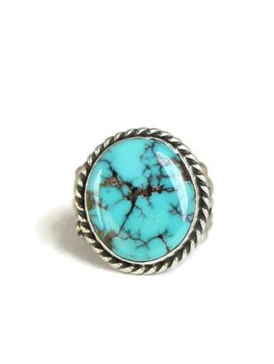 Kingman Turquoise Ring Size 8 1/2 by Linda Yazzie (RG4327)