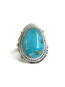 Manassa Turquoise Ring Size 6 1/2 by Lucy Jake (RG4330)