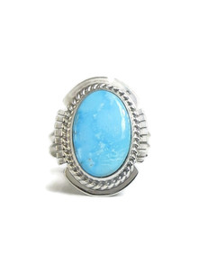 Kingman Turquoise Ring Size 7 by Larson Lee (RG4386)