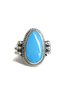 Kingman Turquoise Ring Size 8 by Burt Francisco (RG4387)