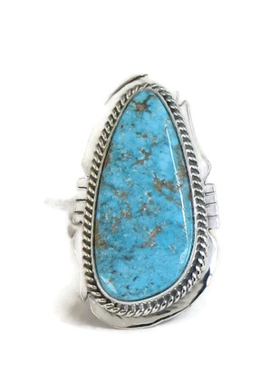 Kingman Turquoise Ring Size 9 by Lucy Jake (RG4390)