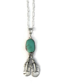 Manassa Turquoise Feather Pendant by Lyle Piaso (PD4141)