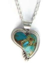 Royston Turquoise Heart Pendant by Lucy Jake (PD4163)