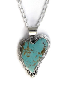 Number 8 Turquoise Heart Pendant by Lucy Jake (PD4165)