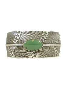 Royston Turquoise Silver Feather Cuff Bracelet (BR6302)