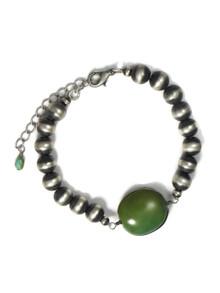 Turquoise & Silver Bead Bracelet (BR6236)