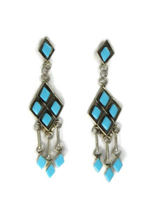 Turquoise Dangle Earrings by Priscilla Chavez (ER5249)