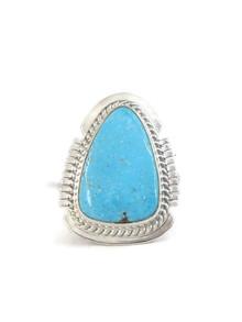 Kingman Turquoise Ring Size 8 by Larson Lee (RG4396)