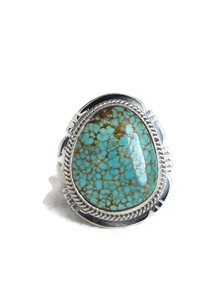 Number 8 Turquoise Ring Size 7 by Lucy Jake (RG4406)