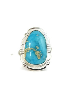 Blue Bird Turquoise Ring Size 8 by Phillip Sanchez (RG4408)
