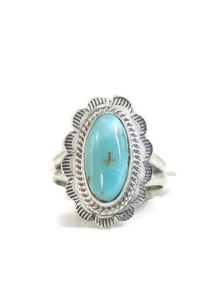 Dry Creek Turquoise Ring Size 7 by Burt Francisco (RG4416)