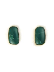 14k Gold Emerald Valley Turquoise Earrings (ER5257)
