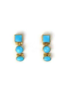 14k Gold Sleeping Beauty Turquoise Earrings (ER5260)