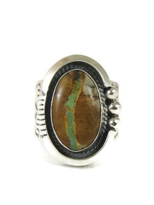 Royston Boulder Turquoise Ring Size 11 by John Nelson (RG4425)