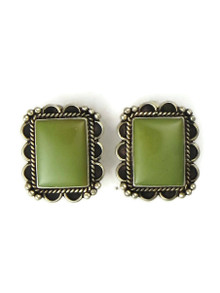 Green Emerald Valley Turquoise Clip On Earrings (ER5275)