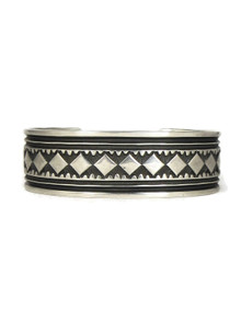 Hand Stamped Silver Cuff Bracelet by Albert Jake (BR6249)