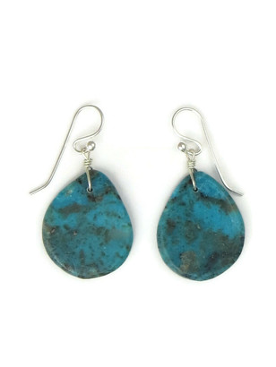 Turquoise Slab Earrings by Ronald Chavez (ER5297)