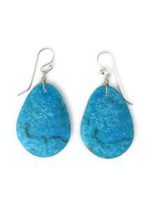 Turquoise Slab Earrings by Ronald Chavez (ER5302)