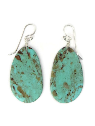 Turquoise Slab Earrings by Ronald Chavez (ER5305)