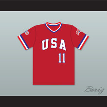 Mike Dunne 11 1984 USA Team Red Baseball Jersey