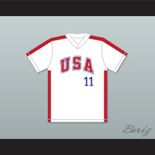 Mike Dunne 11 1984 USA Team White Baseball Jersey