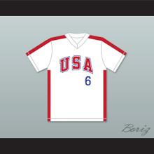 Sid Akins 6 1984 USA Team White Baseball Jersey