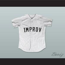 Jerry Seinfeld 2 Improv White Pinstriped Baseball Jersey