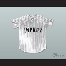 George 'Shrimp' Costanza 17 Improv White Pinstriped Baseball Jersey