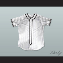 Twilight Edward Cullen White Pinstriped Baseball Jersey