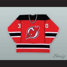 David Puddy 30 New Jersey Red Hockey Jersey