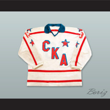 1995-96 Viktor Belyakov 13 SKA Saint Petersburg White Hockey Jersey