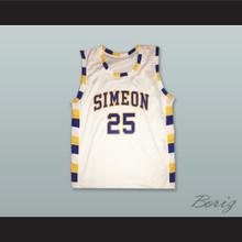 Ben Wilson 25 Simeon Career Academy Wolverines White Basketball Jersey