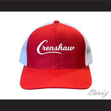 Crenshaw Red with White Mesh Baseball Hat