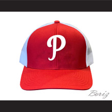 Michael Jordan Parkers Little League Red with White Mesh Baseball Hat