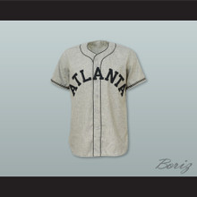 Atlanta Crackers 7 Gray Button Down Baseball Jersey