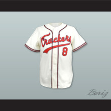Atlanta Crackers 8 White Button Down Baseball Jersey