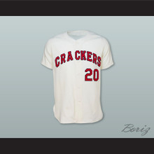 Atlanta Crackers 20 White Button Down Baseball Jersey
