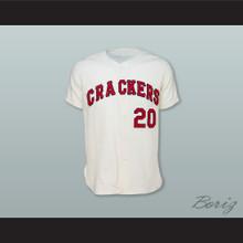 Atlanta Crackers 20 White Button Down Baseball Jersey