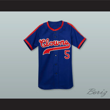 Indianapolis Clowns 5 Negro League Blue Baseball Jersey