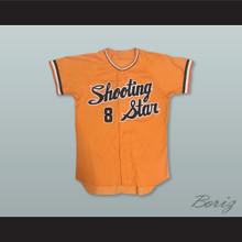 Shooting Star 8 Orange Baseball Jersey