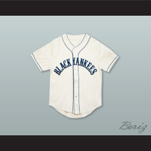 New York Black Yankees 2 Negro League White Baseball Jersey